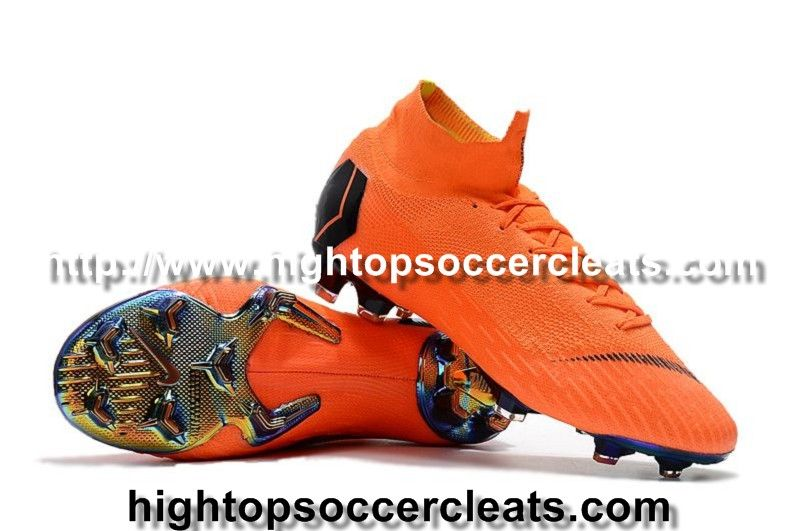 the latest 66aaf 0b7bc Nike Mercurial Superfly VI 360 Elite FG High Top Soccer Cleats - Total  Orange Black. Visit