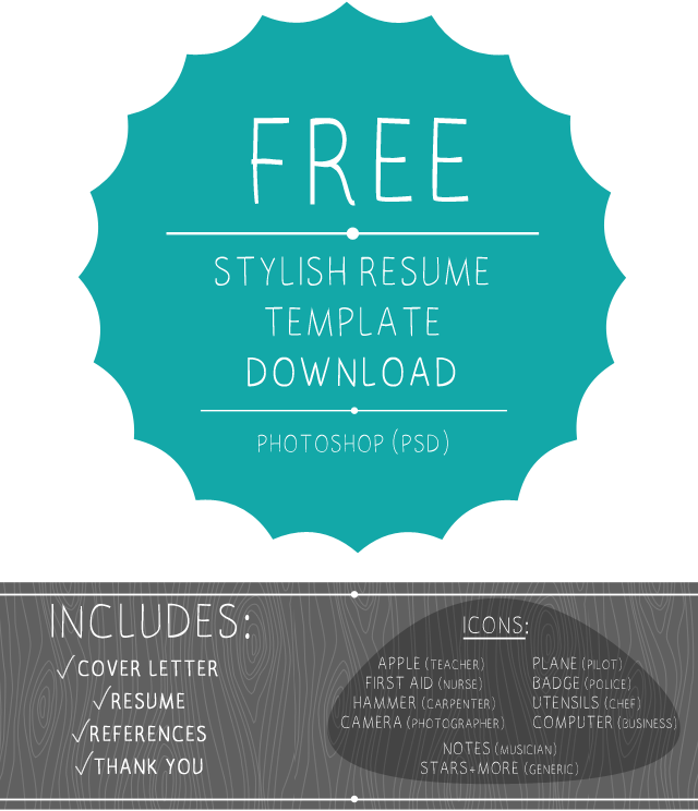 Buy One Get One Free Offer Modern Resume Template Design