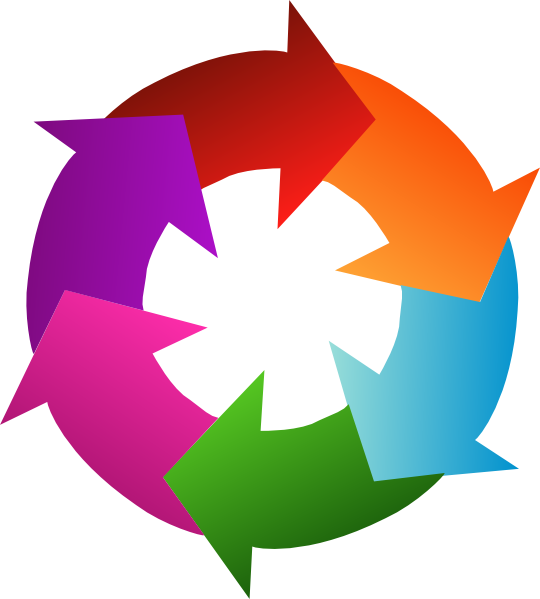 Six 6 Rainbow Circular Arrows Clip Art Vector Clip Art Online Royalty Free Public Domain Clip Art Art Train Art