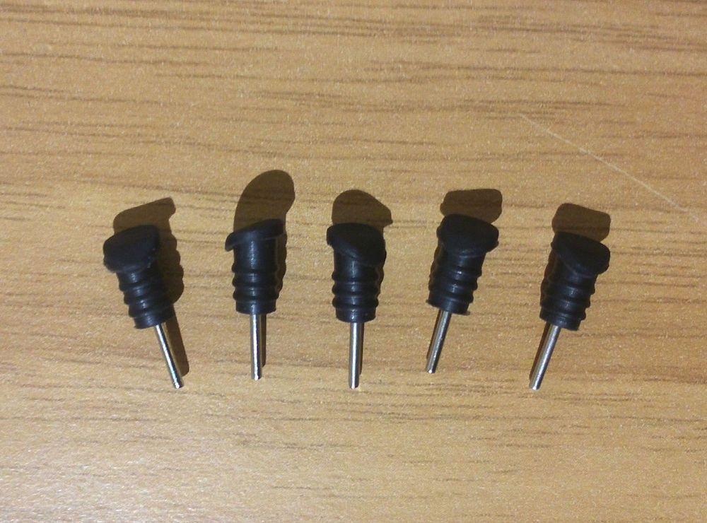 Tappi Mobili ~ Coppia tappi antipolvere per microusb pin jack mm nero