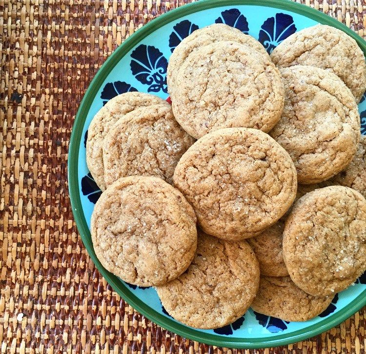 Vegan Gingersnap Cookies Soft Chewy - use gluten free flour