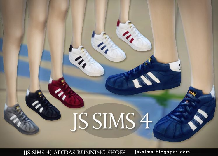 OnSims Shoes Contenu Sims4 Fashion Adidas 43 L54ARj