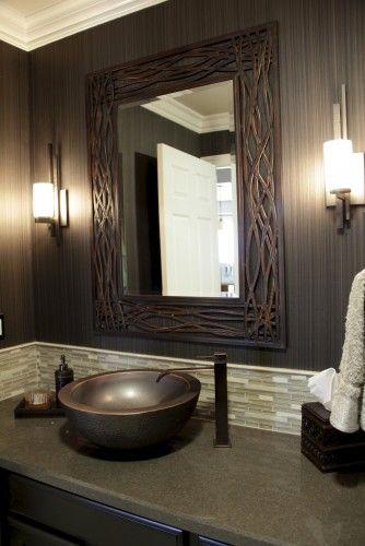 Candice Olson Bathroom Design Stunning Uttermost Dorigrass Distressed Mocha Brown Wall Mirror  Style Design Ideas