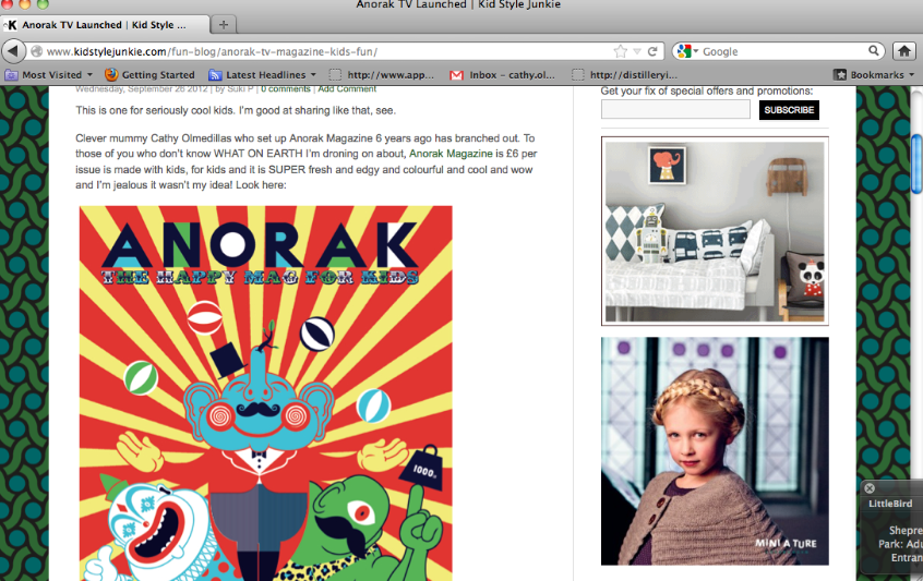On the fabulous Kids Style Junkie.  http://www.kidstylejunkie.com/fun-blog/anorak-tv-magazine-kids-fun/