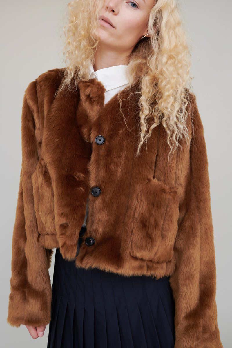 e3cfab15d Suzanne Rae Cropped Faux Fur Jacket in Caramel | Style inspiration ...