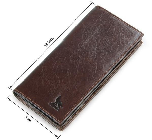 100% Genuine Leather Men's Coffee Wallet Business Credit Card Holder Coin ID Purse