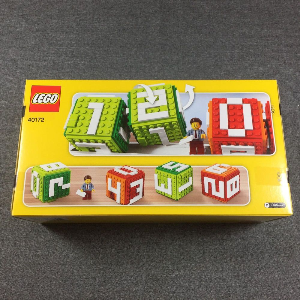 Lego Iconic Brick Perpetual Calendar 40172 Stand 4 Number Blocks