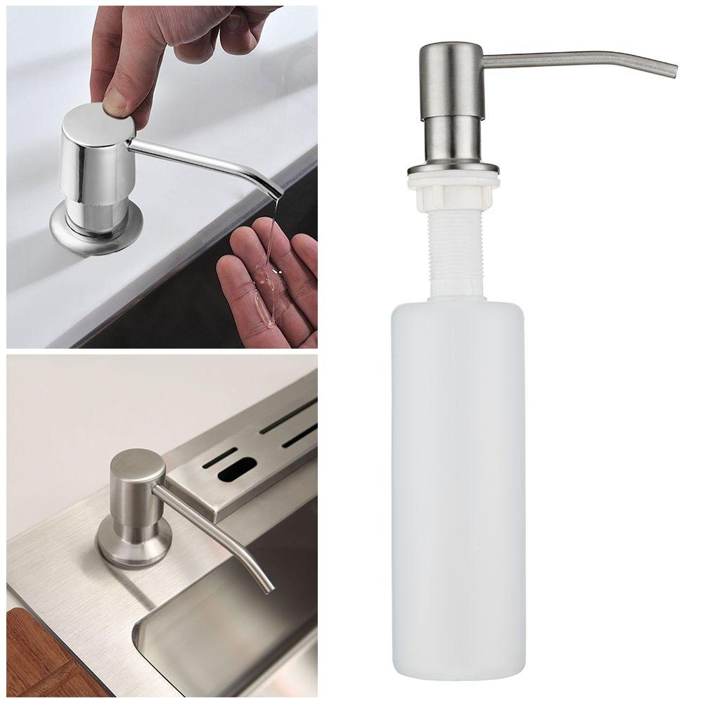 300ml ABS Plastic Bottle Soap Dispenser Deck Mount Pump Countertop ...