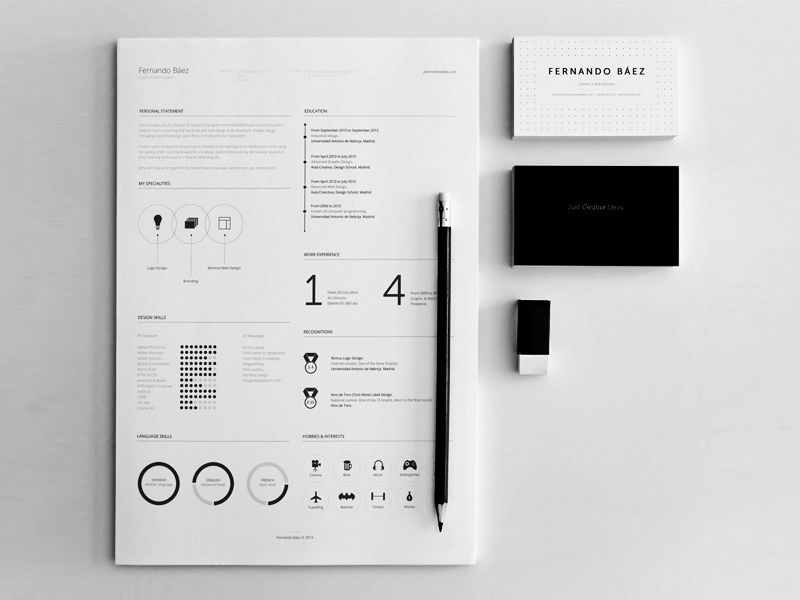 FREE Resume Template Template, Behance and Brand identity - free business resume templates