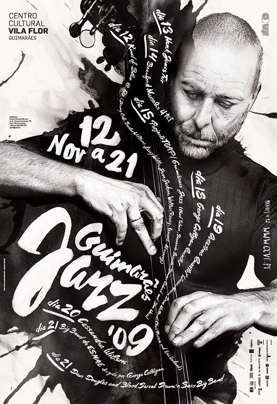 Серия плакатов джазового фестиваля Guimarães JAZZ 2009