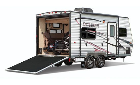 161 3 4 Rear Exterior Toy Hauler Travel Trailer Toy Hauler