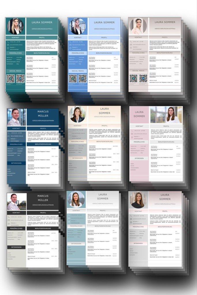 Cv Lebenslauf Design Vorlagen Komplett Set Als Download Fur Pc Und Mac Lebenslauf Design Lebenslauf Design Vorlage Lebenslauf