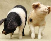 Needle felted pigs - ready to ship #needlefeltedanimals
