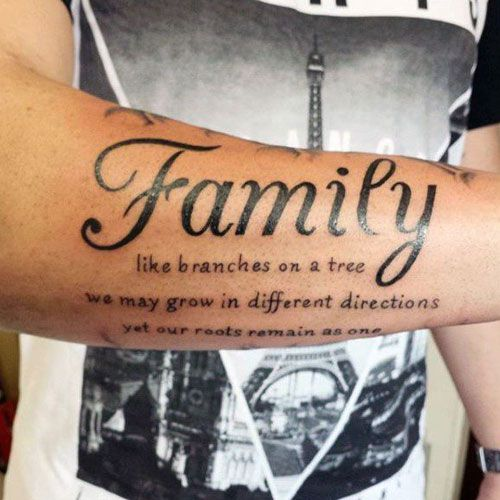 31 Family Tattoos For Men | Tattoo, Tatting and Piercing