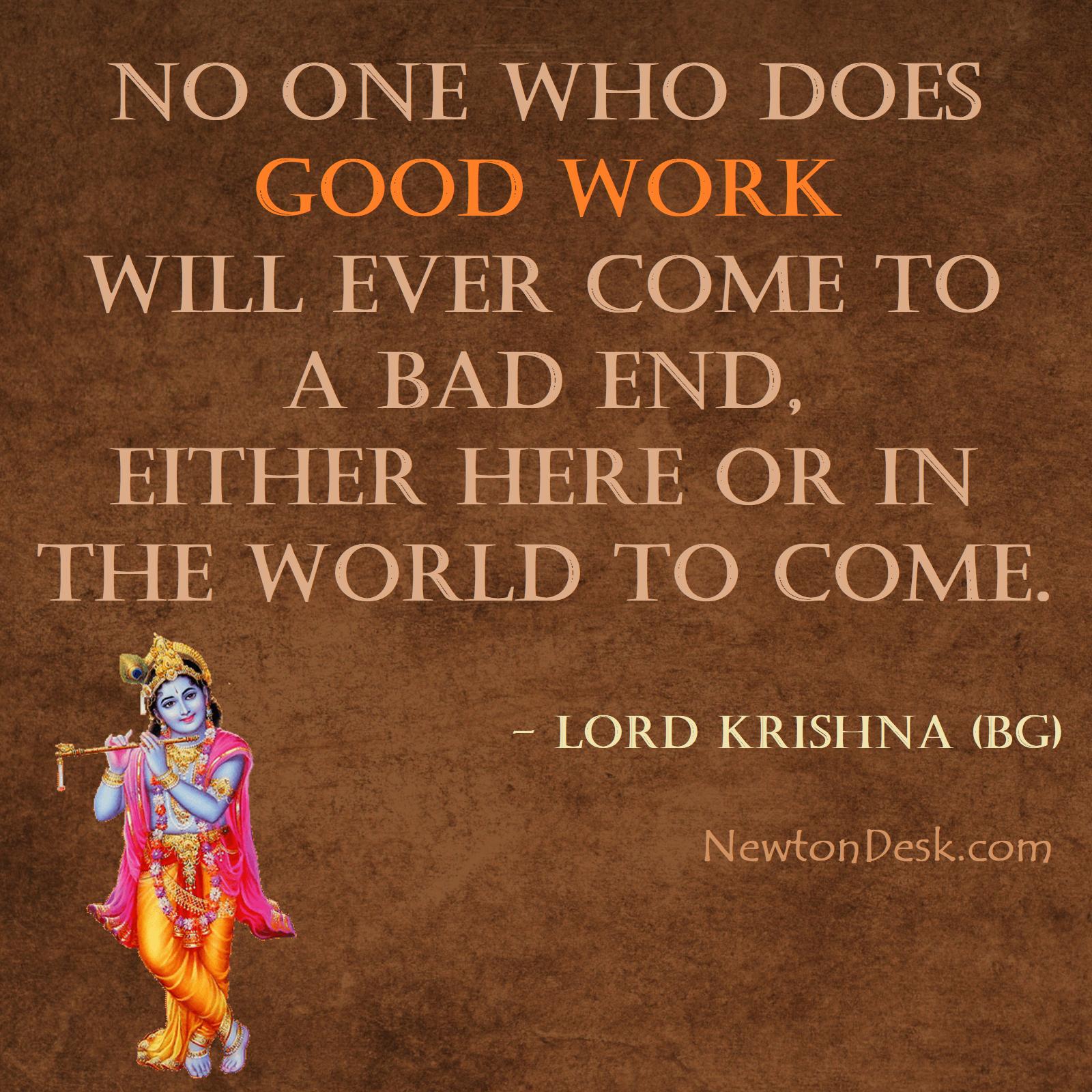 What Lord Krishna Said About Good Work Bhagwat Geeta Krishna