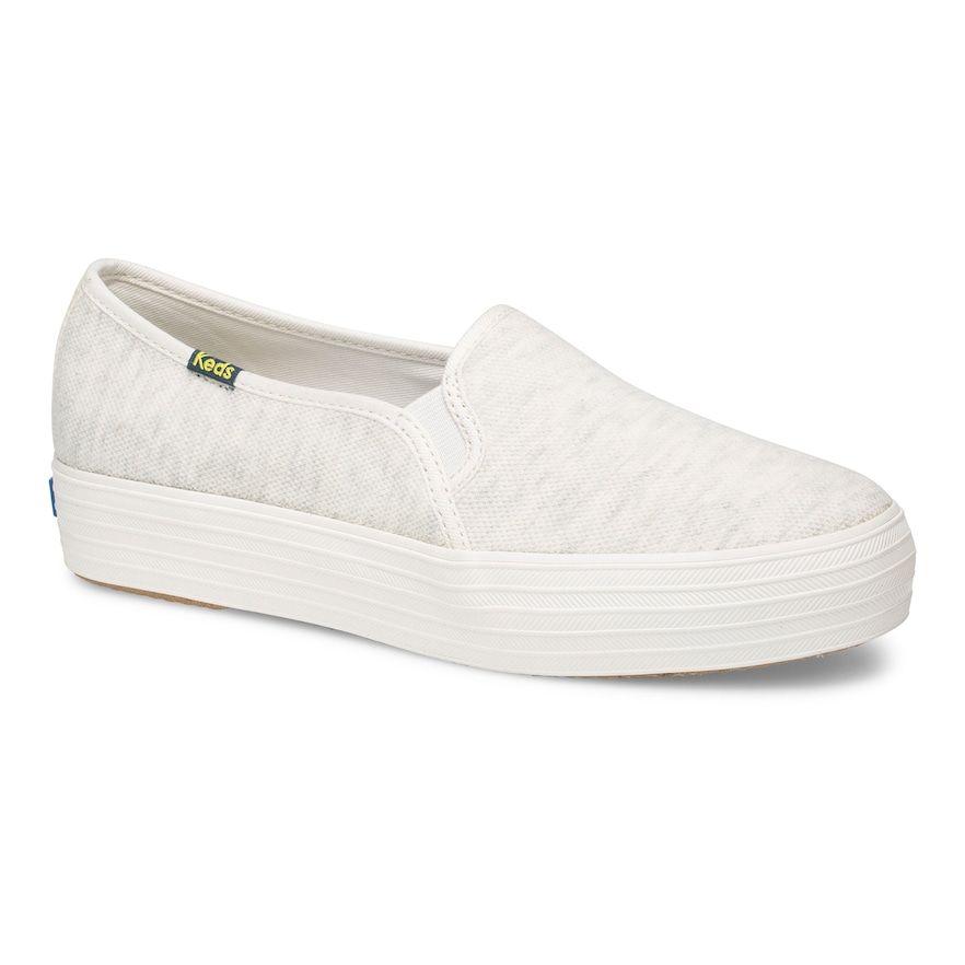 Lt Beige | Women slip on sneakers, Keds