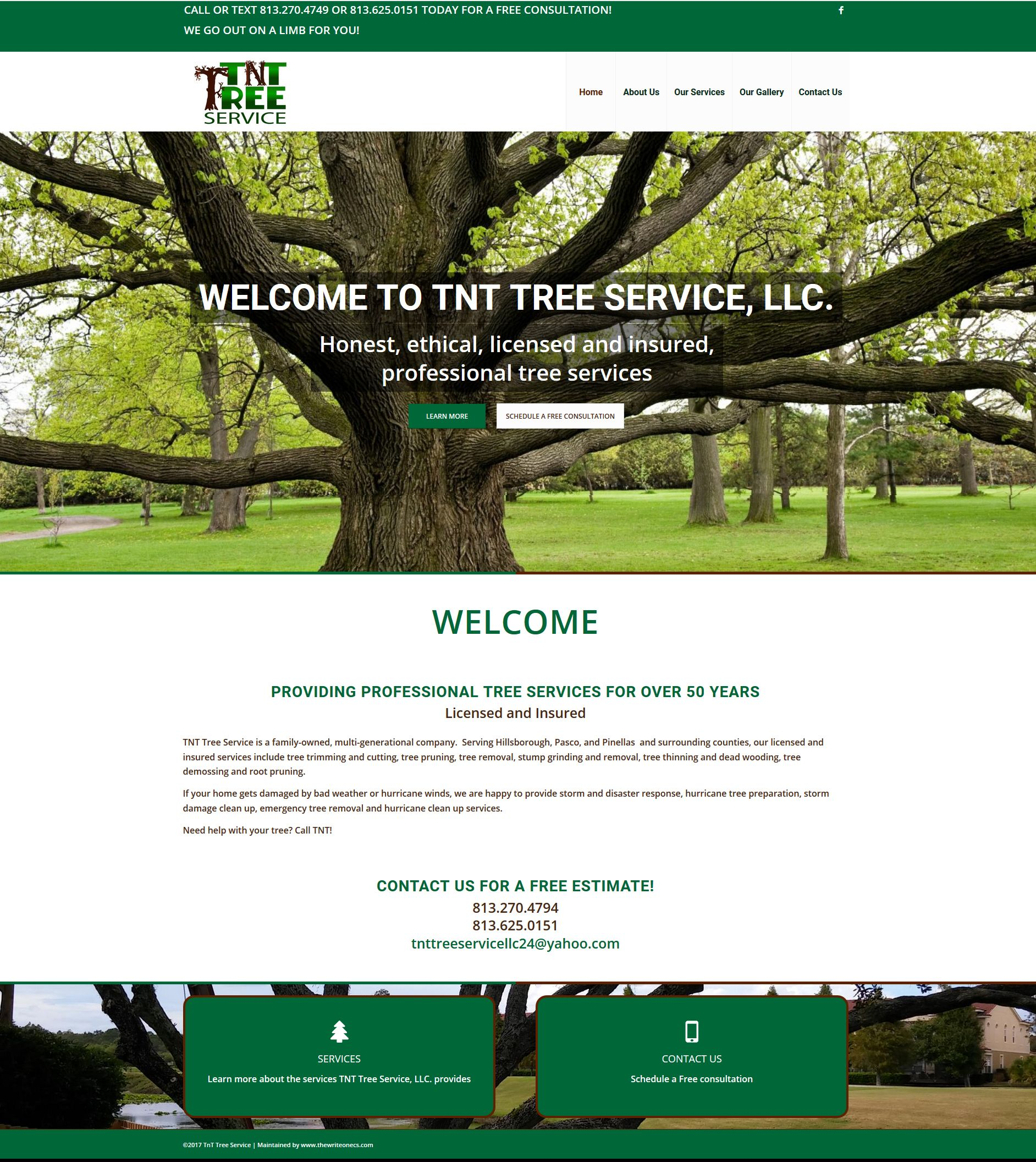 Website For Tree Service Company