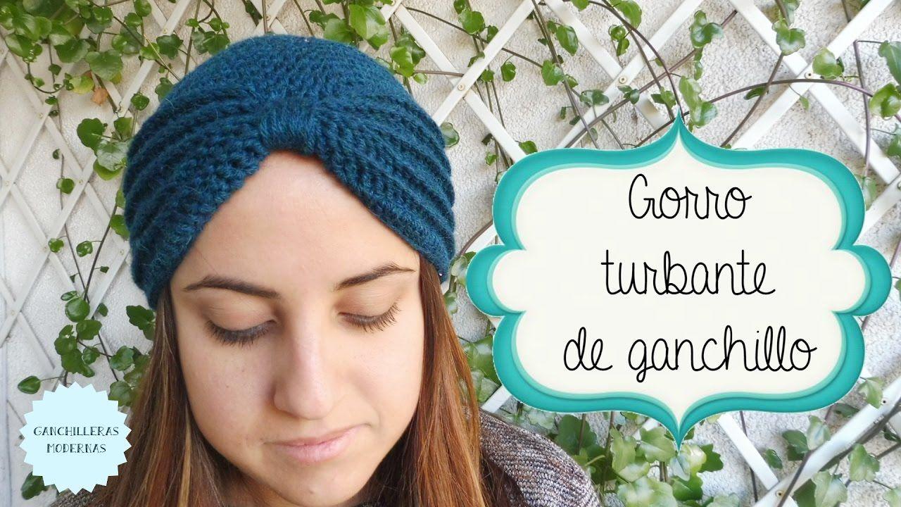 Gorro turbante de ganchillo / TUTORIAL   Knitting   Pinterest ...