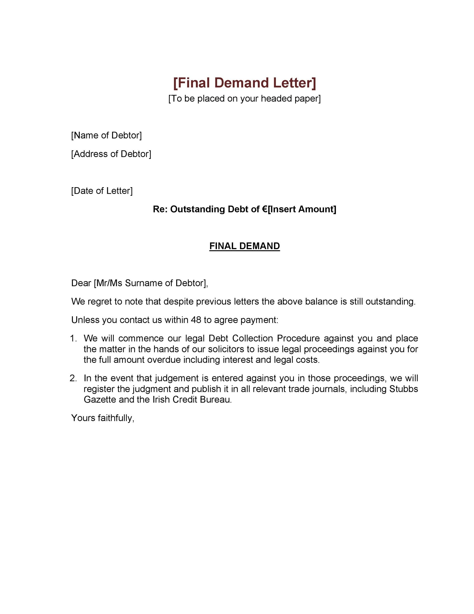 Legal Archives Templatelab In 2021 Letter Template Word Letter Templates Free Letter Templates Defamation of character letter template