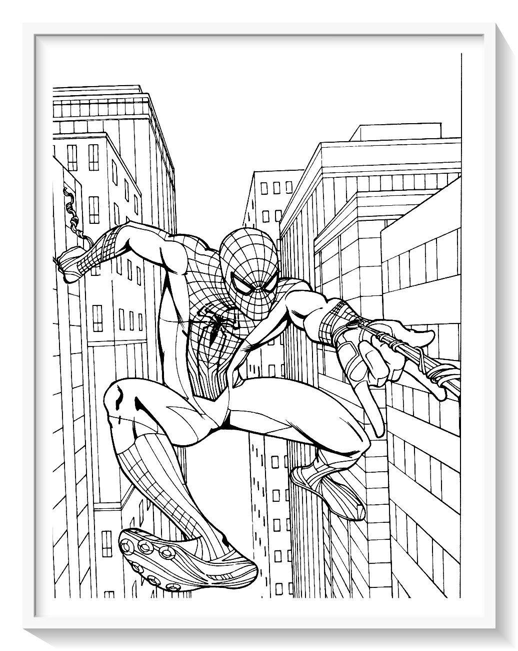 Los Mas Lindos Dibujos De Spiderman Hombre Arana Para Colorear Y Pintar A Todo Color Imagenes Spiderman Coloring Superhero Coloring Pages Superhero Coloring