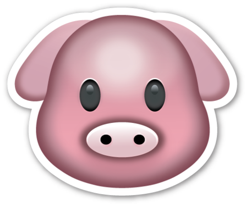 This Sticker Is The Large 2 Inch Version That Sells For 1 Each If You Are Looking For The Emoji Sticker Pack Which Includes Emoji Emoji Stickers Pig Face
