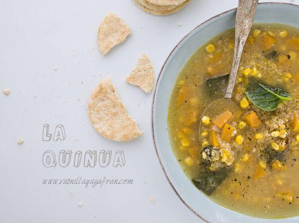 Sopa picante de quinua y auyama/ Quinua and pumpkin spicy soup