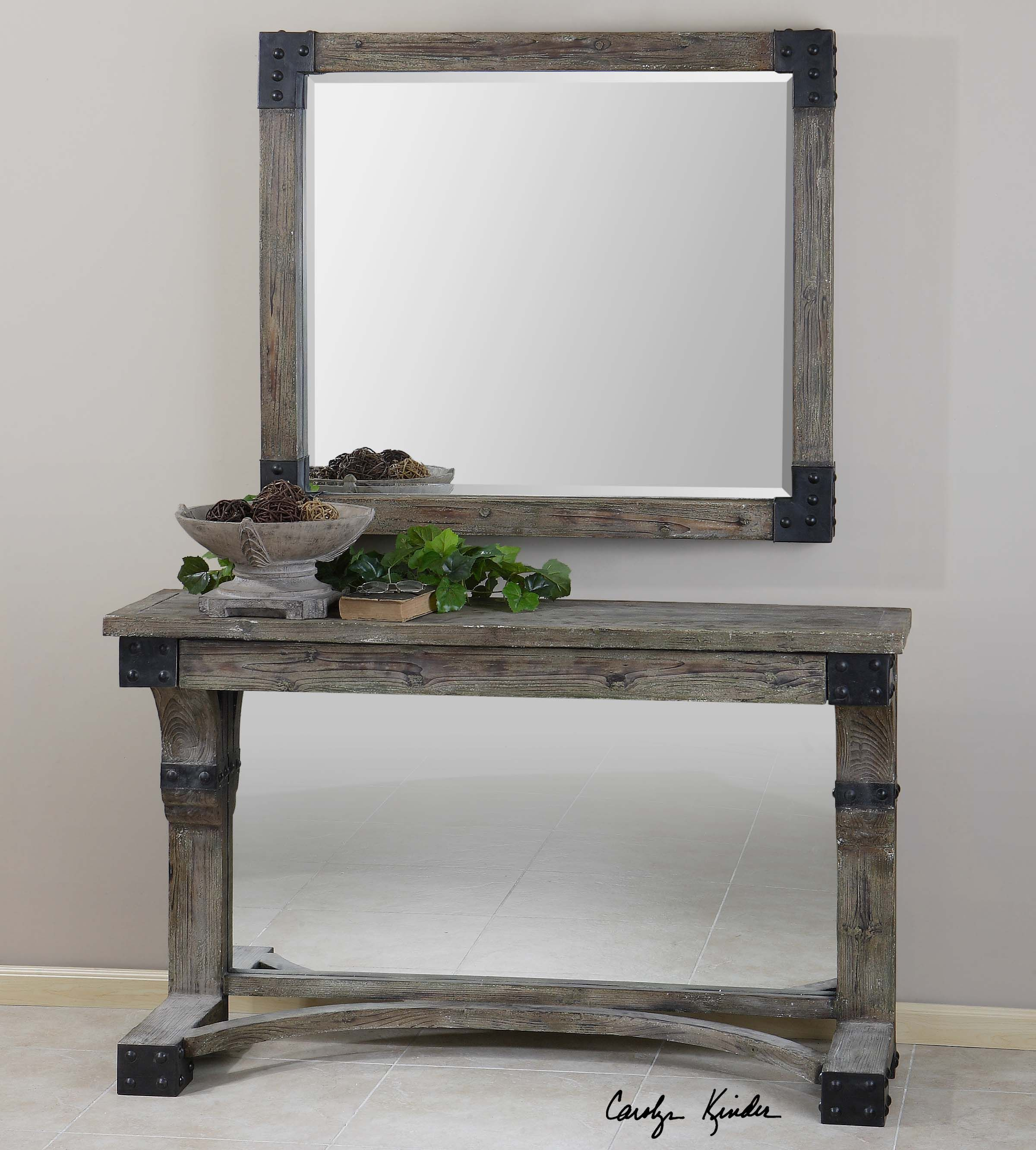 rustic black wood frame. Nelo - Weathered Wood Frame With An Aged Gray Wash And Rustic Black Corner Accents.