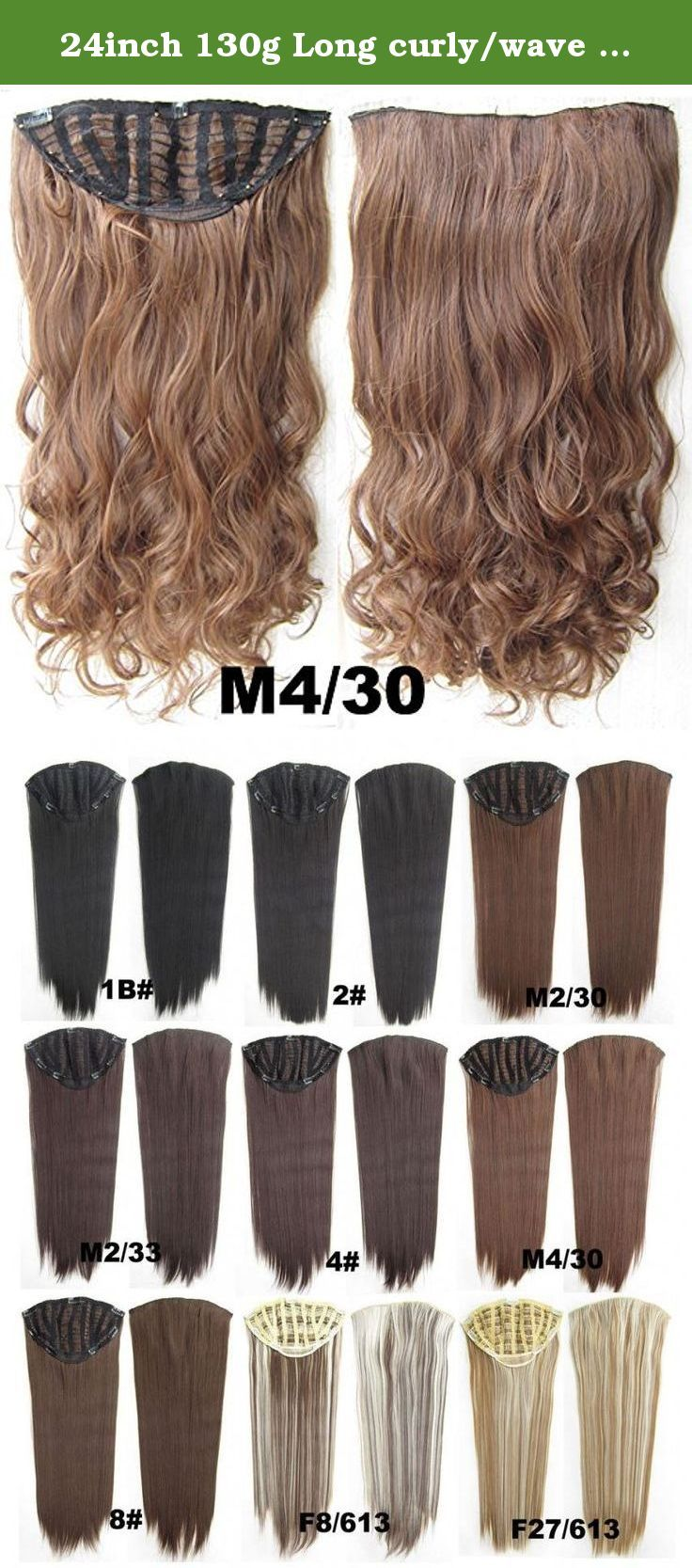 24inch 130g Long Curlywave Hair Extension Clip In Hair Extensions 7