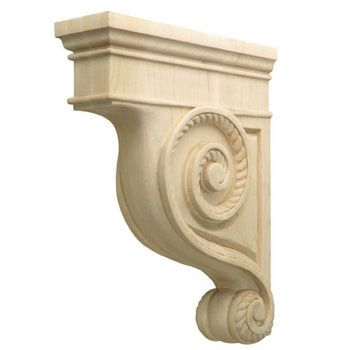 Corbels Americana Collection Hand Carved Corbel Rope 2 7 8 W X 9 D X 12 H By Hafele Kitchensource Com Corbels Hafele Wooden Brackets