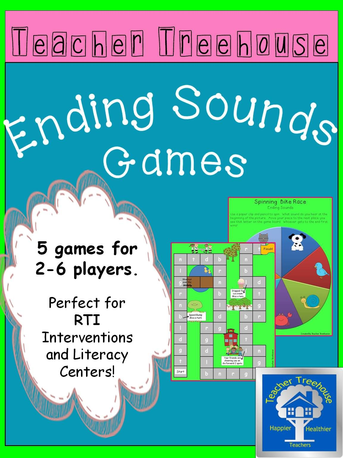 This contains 5 unique games designed for 2-6 players. They are perfect for RTI Interventions and Literacy Centers. The games are all in color and include instructions.
