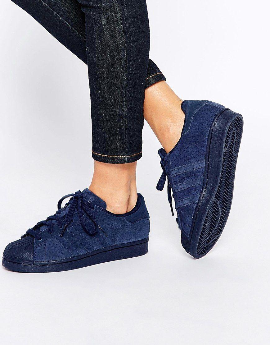 Adidas Superstar Bleu Daim