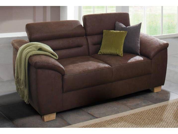Home Affaire Zweier Sofa Sari Braun Mit Ruckenverstellung Fsc