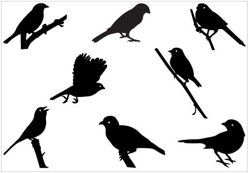 Sparrow Silhouette Flying http://www.silh...
