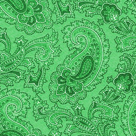 green paisley background seamless