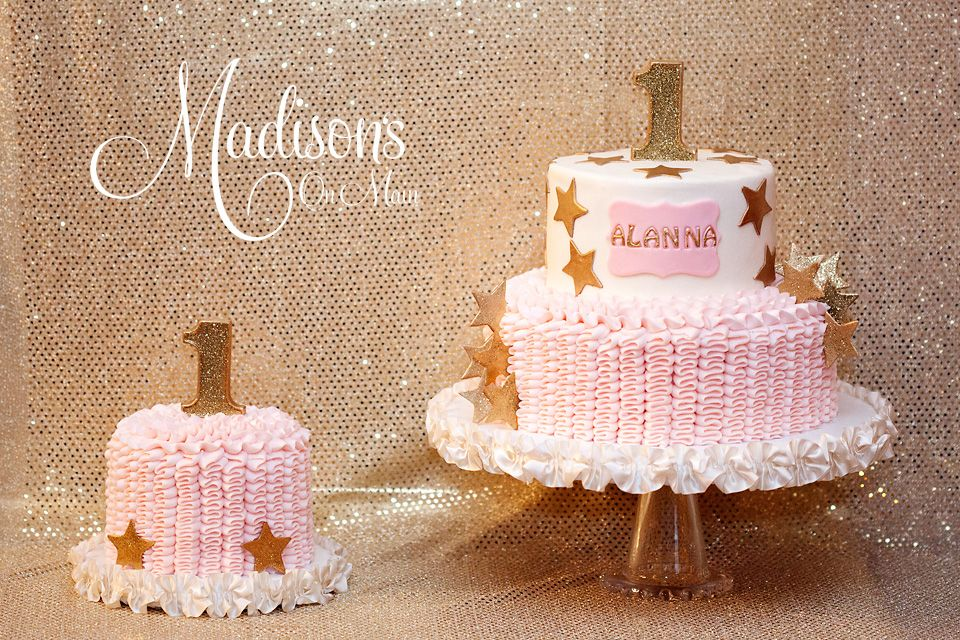 A First Birthday Cake For A Twinkle Twinkle Little Star Theme