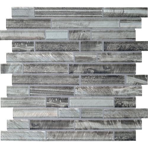 Daltile Fanfare Tiger Eye Glass - TE21 Caspian Blend - Random Linear Dal Tile Glass - Glossy