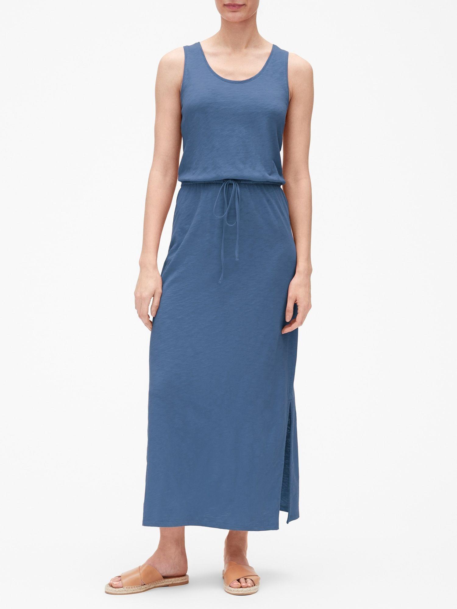 Tank Maxi Dress In Slub Jersey Gap Factory Maxi Tank Dress Dresses For Work Maxi Dress [ 2000 x 1500 Pixel ]