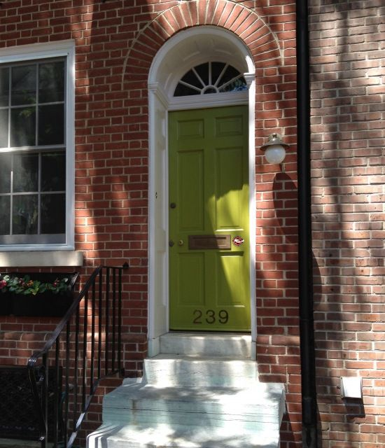 Front Door Inspiration: Door Inspiration: Philadelphia, Society Hill. Historic