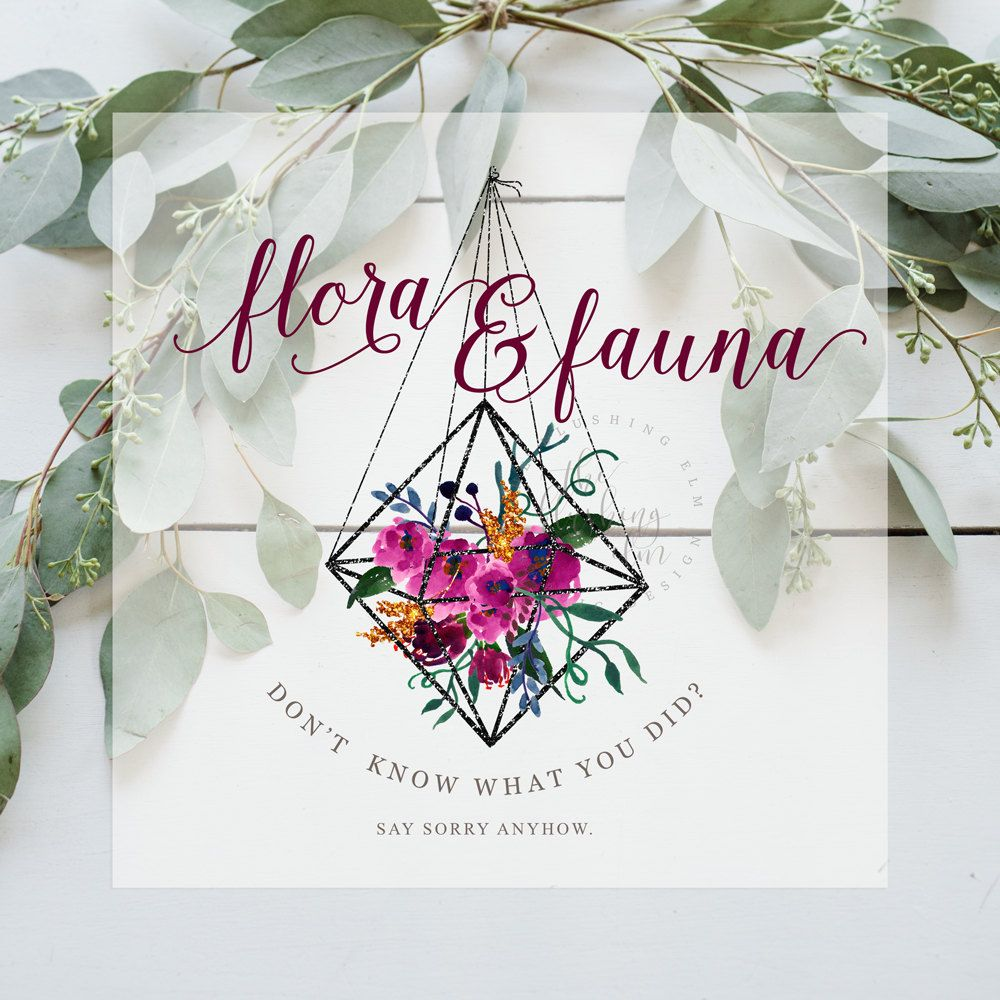 Premade Logo, Floral Logo, Graphic Design, Business Logo, Logo ...