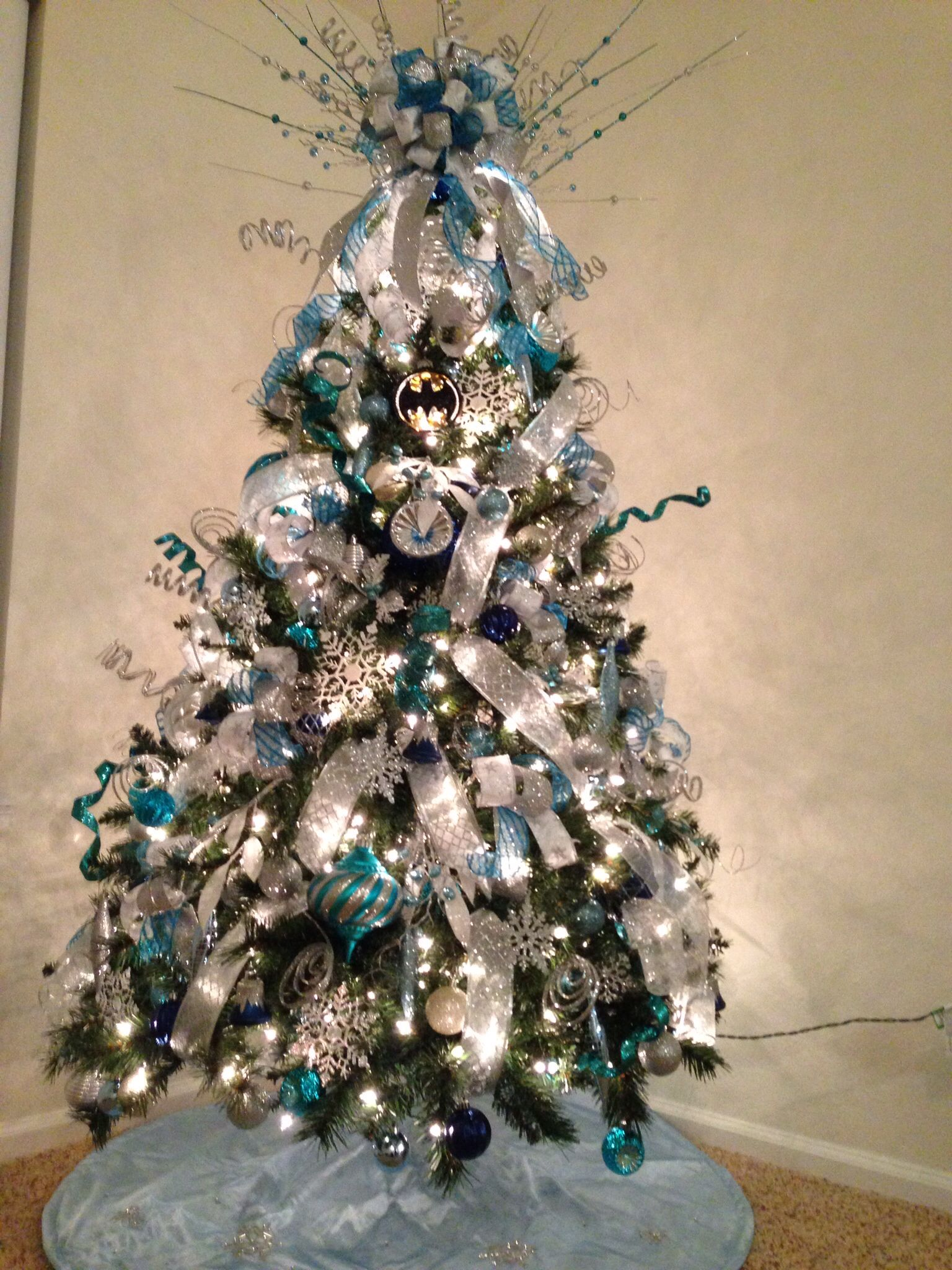 White Blue Amp Silver Christmas Tree Ohh And My Husband