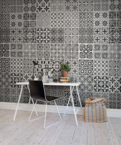 Wall mural R12721 Marrakech, black