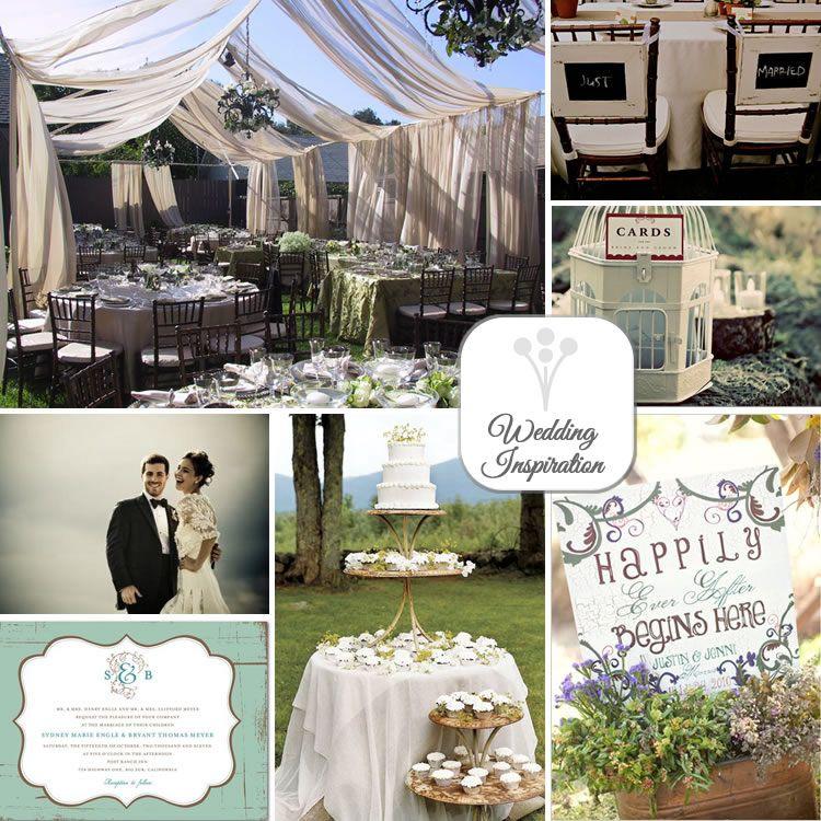 shabby chic outdoor wedding inspiration
