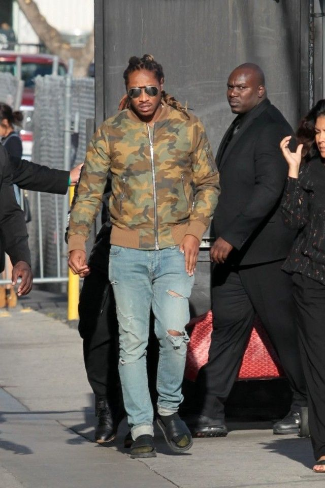 4ec51b60b3621c Future wearing Amiri Bomber Jacket