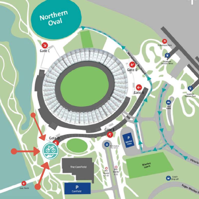 Optus Stadium Lights Tour: Bike Valet Optus Stadium Got Tickets For The @OptusStadium
