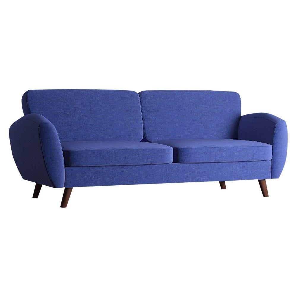 Patterson Mid Century Relaxed Sofa Twilight - Inspire Q, Dark Vintage Blue