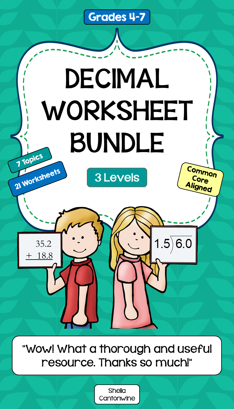 Decimal Differentiated Worksheet BUNDLE | Worksheets, Maths and ...