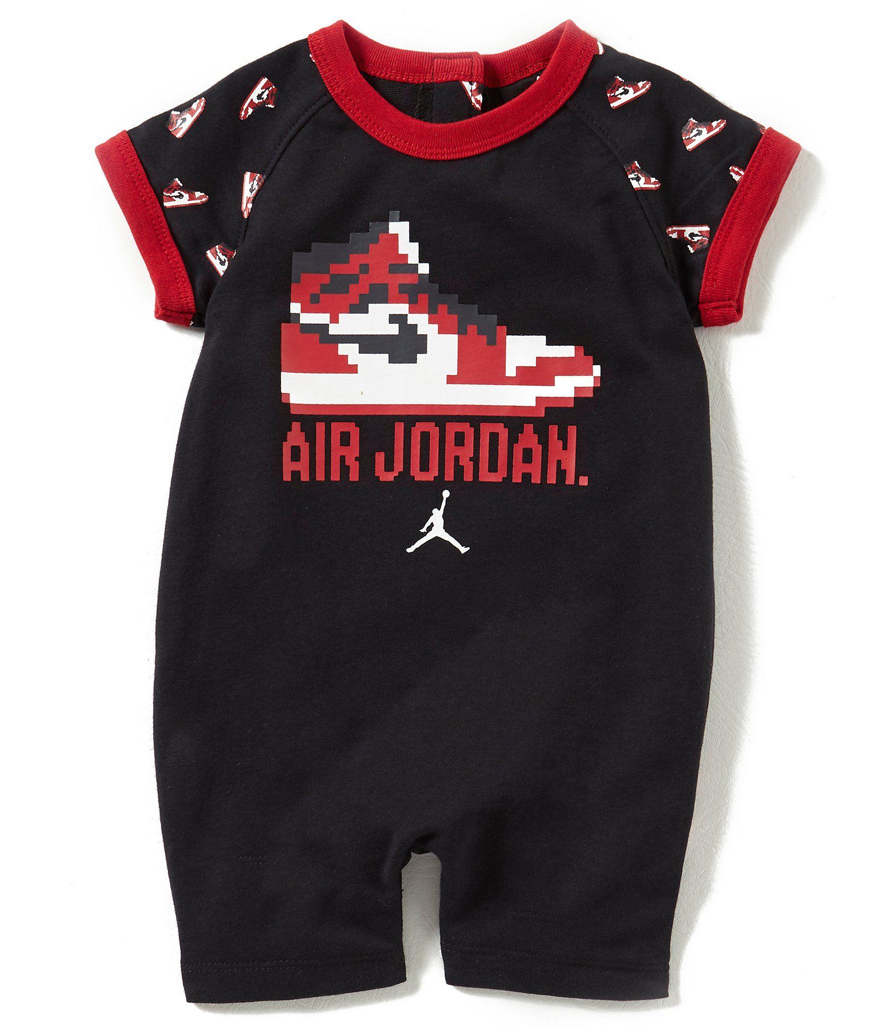brand new 932d4 2276e Jordan Baby Boys Newborn12 Months Game Changer Shortall  Dillards