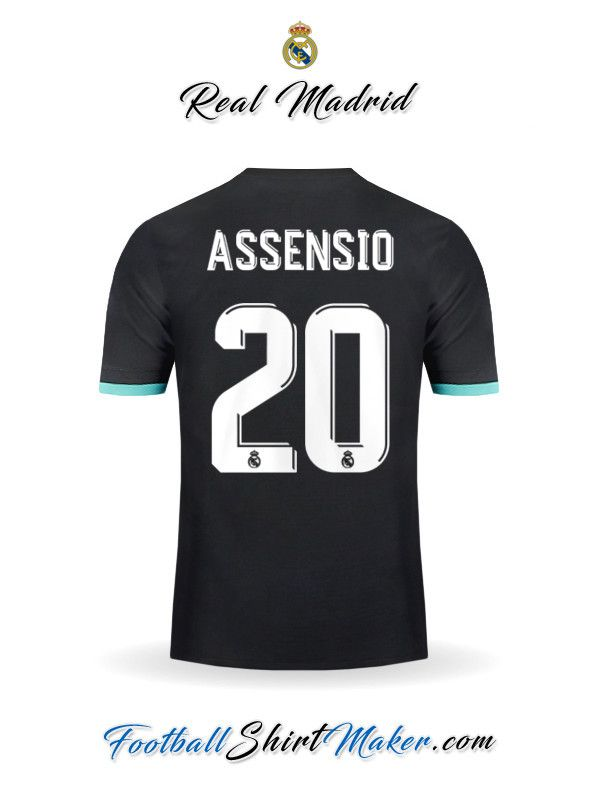 Jersey Real Madrid CF 2017 2018 Away Assensio 20  9ffca0123