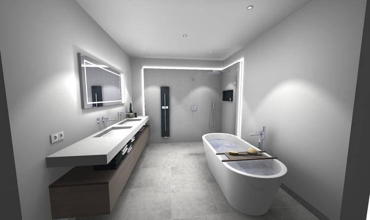 Middelkoop Culemborg / badkamers) Deze ruime badkamer kenmerkt zich ...