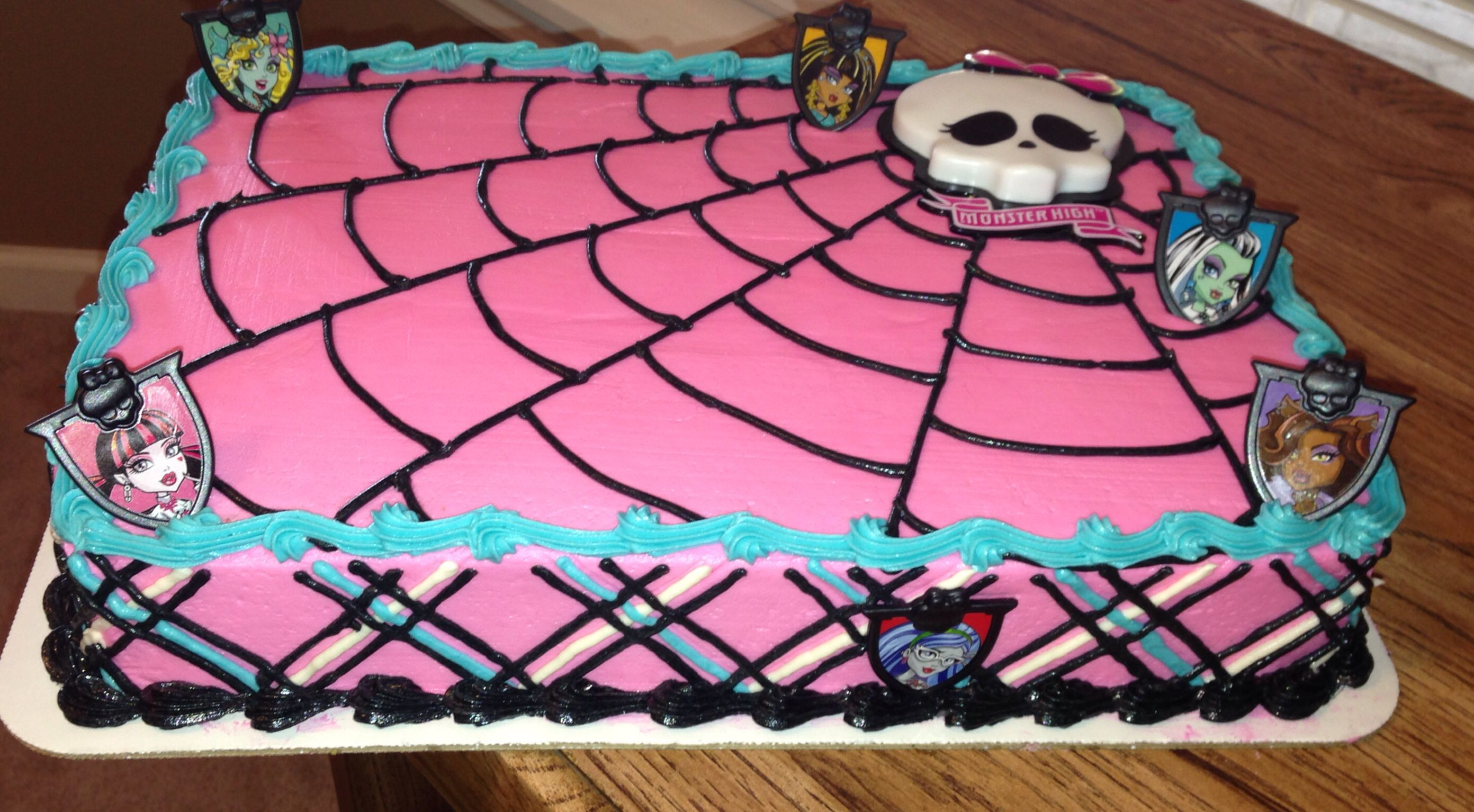 Swell Monster High Birthday Cake Monster High Birthday Cake Monster Funny Birthday Cards Online Alyptdamsfinfo
